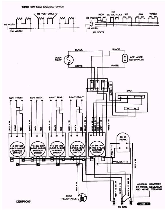 clothes dryers 4 wire range schematic diagram