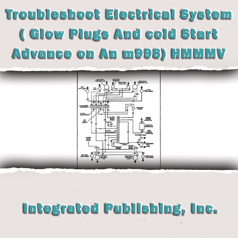 troubleshoot electrical system glow plugs and cold start advance troubleshoot electrical system glow plugs and cold start advance on an