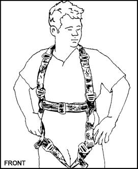 safety harness drawing
