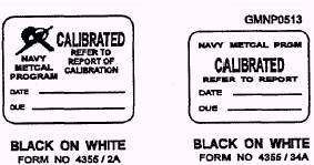 CALIBRATED labels.