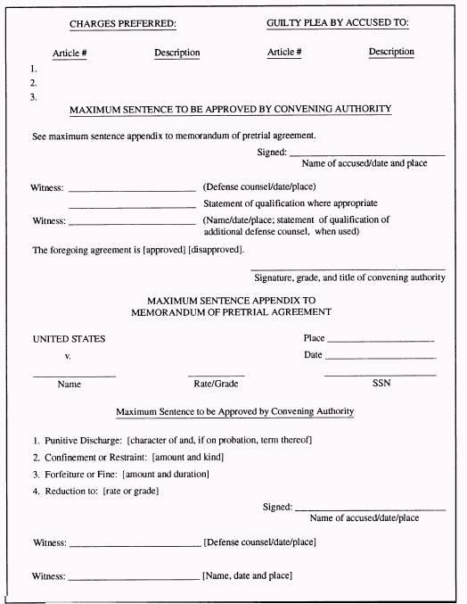 Pretrial Agreements
