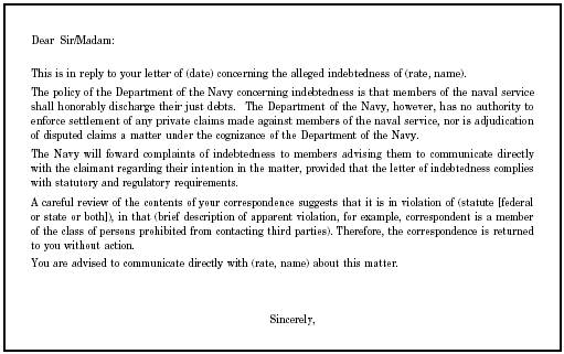 sample letter to debt collector in violation of fair debt collection practices act or state statute